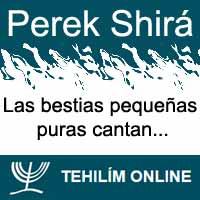Perek Shirá : Las bestias pequeñas puras cantan