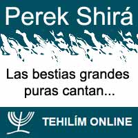 Perek Shirá : Las bestias grandes puras cantan